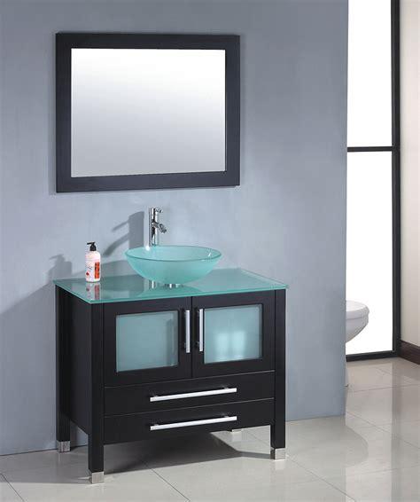 mtd modern glass single bathroom vanity mtb 8111b