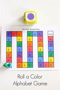 roll a color alphabet game alphabet games color themes With learn your letters game