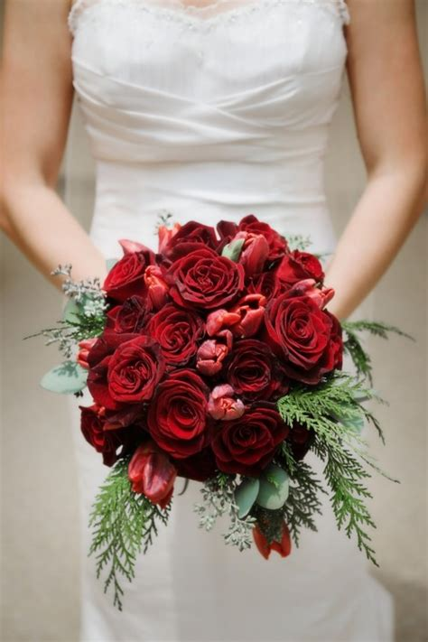 Red Wedding Bouquet Red Roses Calla Lilies Tulips