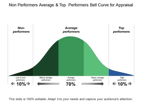 performers average  top performers bell curve