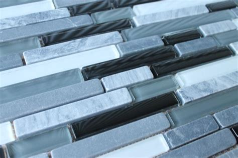 bliss midnight and glass linear mosaic tiles rocky