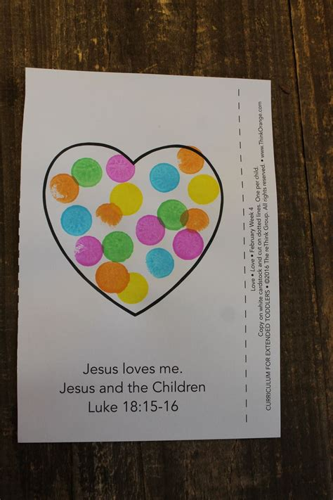 sample craft  extended toddlers week  love