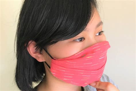 diy  sew face mask  fabric  hair