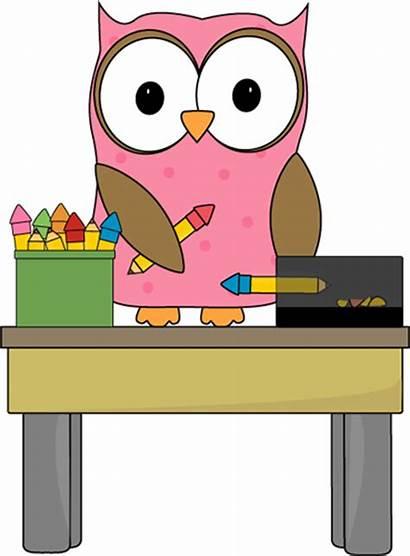 Clip Classroom Owl Clipart Pencil Monitor Cliparts