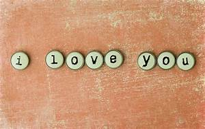 I Love You Words Letters for Desktop Wallpapers