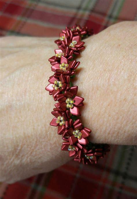 dragon scale beads poinsettia bracelet  images
