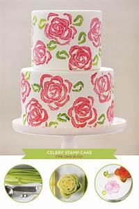 DIY: Celery Stamp Rose Cake upper sturt general store