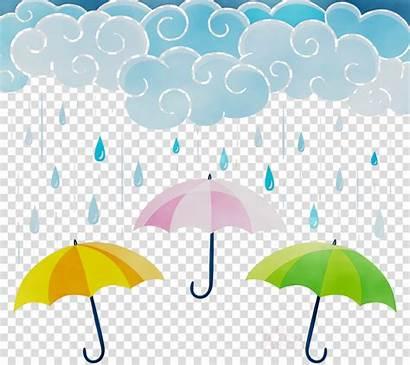 Rain Umbrella Clipart Cloud Rainbow Clouds Transparent