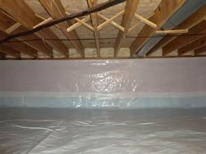 Spray Foam Insulation And White Cap Crawl Space