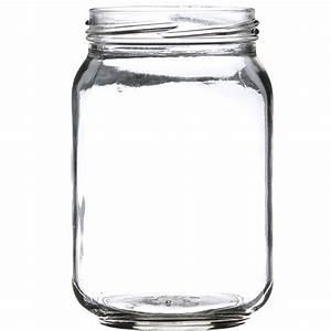16, Oz, Clear, Glass, Round, Jar
