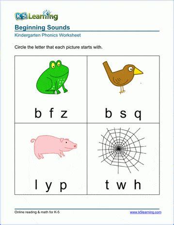 preschool kindergarten phonics worksheets