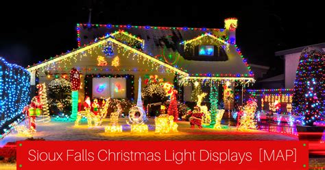 christmas light displays near you great places to see sioux falls lights