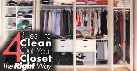 Clean The Closet by 4 To Clean Out Your Closet The Right Way