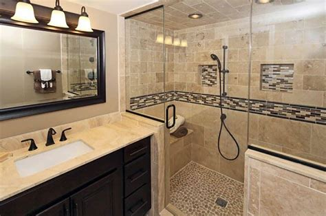 river rock shower travertine shower ideas bathroom designs designing idea