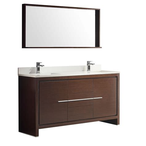 60 inch double sink vanity top 60 inch double sink bath vanity in wenge brown with stone