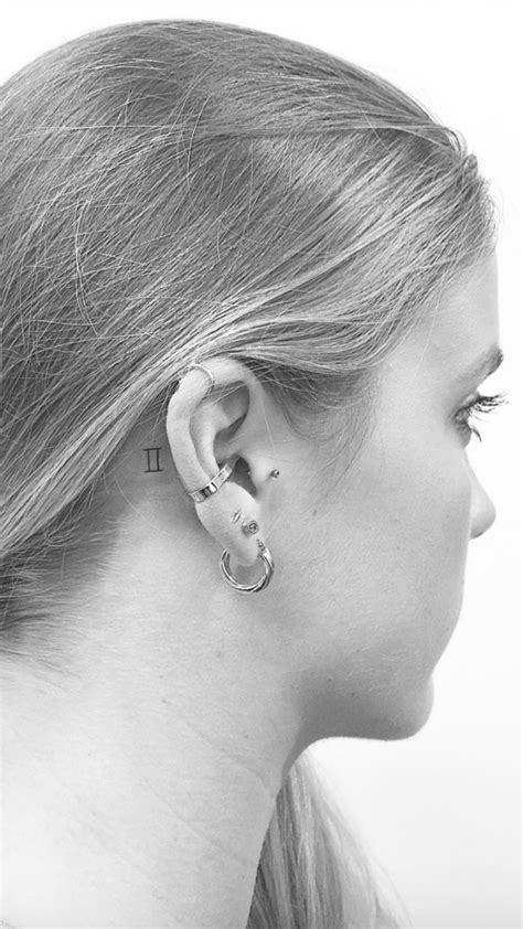 11 Behind-the-Ear Tattoos That Are Too Cute to Hide | Small tattoos, Fine line tattoos, Tattoos