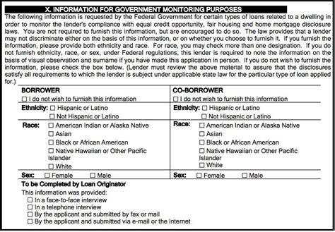 Hmda Data Collection Form by Why Is My Lender Asking About My Race On My Loan
