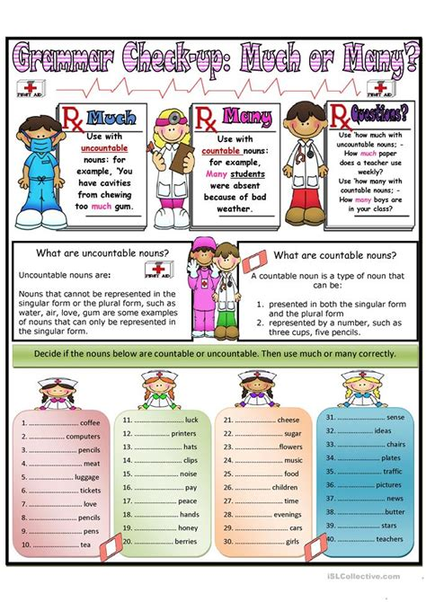Much And Many Worksheet  Free Esl Printable Worksheets Made By Teachers