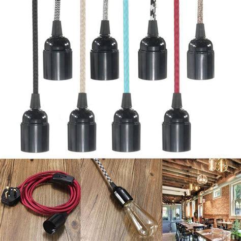 e27 2m fabric cable uk in pendant l light set