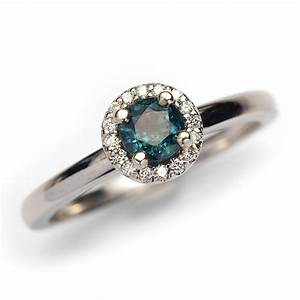 teal sapphire and diamond engagement ring made you look With teal wedding rings