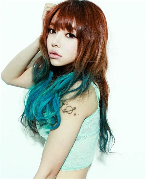 Brown To Blue Ombre Dip Dyed Hair Colorful Hair