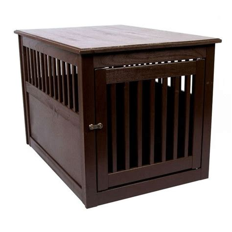 dog cage end table dynamic accents end table dog crate poplar