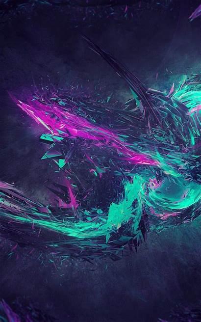 Desktop Tablet Teal Purple Backgrounds Gray Effects