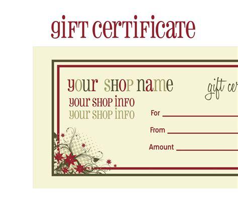 printable gift certificates new calendar template site