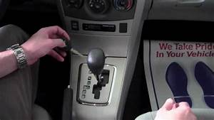 2011 Toyota Corolla Shift Lock Release How To By