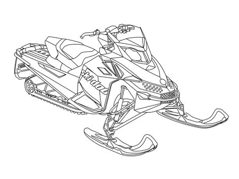 Snowmobile Coloring Pages