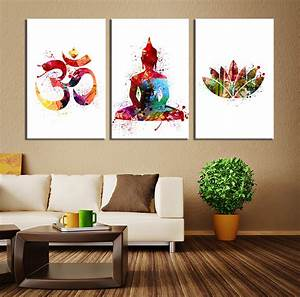 canvas painting ideas for living room home design With best brand of paint for kitchen cabinets with buddha wall art decor
