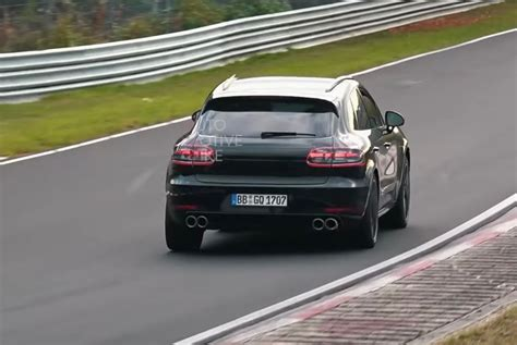 porsche macan turbo spotted  quick video