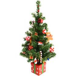 fantastic pre decorated 60cm 24 quot artificial desk top table centre piece christmas tree