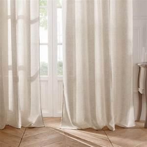 Rideau Voilage Lin : rideau voilage line 140x240cm lin ~ Teatrodelosmanantiales.com Idées de Décoration