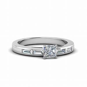 princess cut bar baguette diamond simple engagement ring With simple princess cut wedding rings