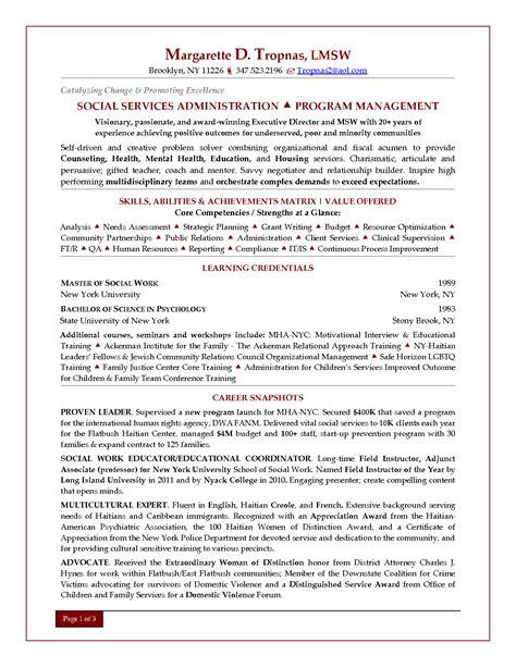 resume for social worker manager human services resume resume badak
