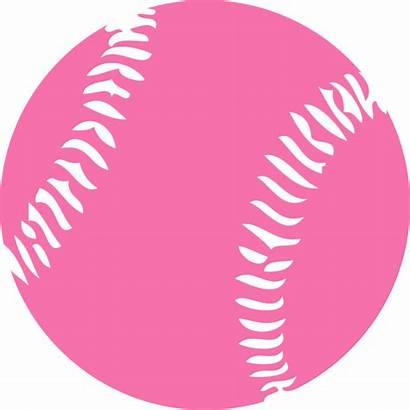 Clipart Softball Baseball Pink Clip Library