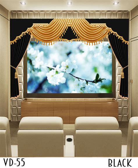 luxury home theater screen curtain