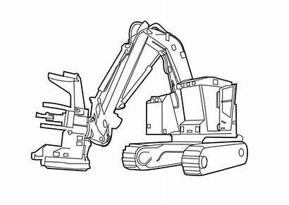 Logging Clip Clipart Machine Skidder Log Loader