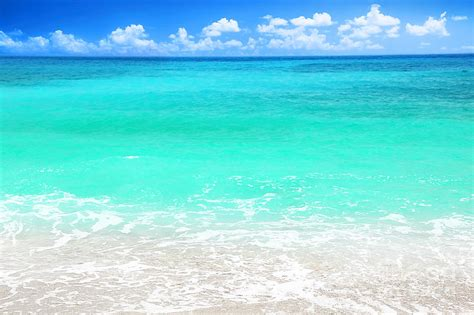 Beautiful Blue Sea Beach Photograph By Anna Om
