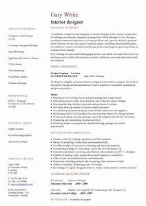 resume examples templates sample easy interior design With interior designer profile sample