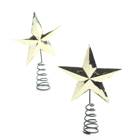 miniature gold star tree toppers christmas miniatures