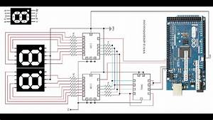 Circuit Diagram To Control 2 Seven Segment Displays Using