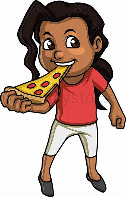 Eating Cartoon Pizza Clipart Boy Clip Dog