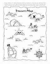 Treasure Map Coloring Pirate Drawing Neverland Pirates Getdrawings Jake sketch template