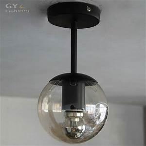 Ac v d cm round ball glass lampshade kids children