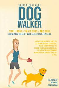 Free Dog Walking Flyer Template Dog Walker Flyer Template Postermywall