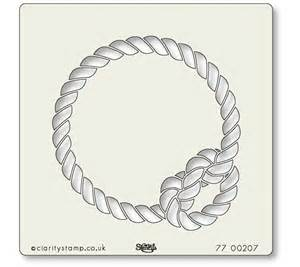 Rope Knot Stencil 7 x 7 Inch