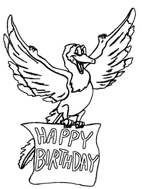 Kleurplaat Happy Birthday Met Een Poesje by Coloriage Joyeux Anniversaire 4