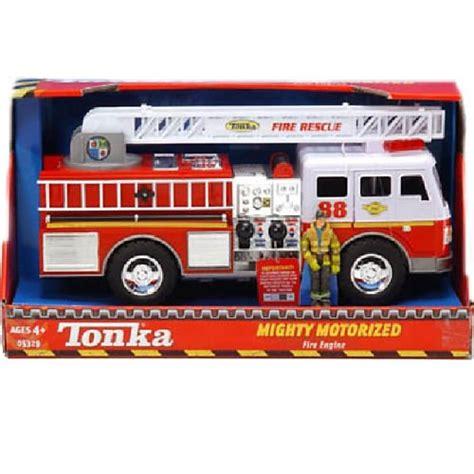 tonka mighty motorized fire truck best tonka mighty fire truck